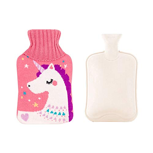 Anyingkai Wärmflasche,Wärmflasche mit Bezug,Wärmeflasche,Bettflasche Tier,Wärmflasche Groß,Gestrickte Wärmflasche,Wärmflaschen