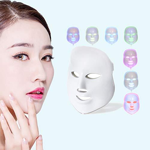 Konmison 7 Couleur Lumières Led Photon Thérapie Masque Facial Masque Pour L'acné Anti-âge Instrument De Beauté De Couleur De Puissance Optique EU
