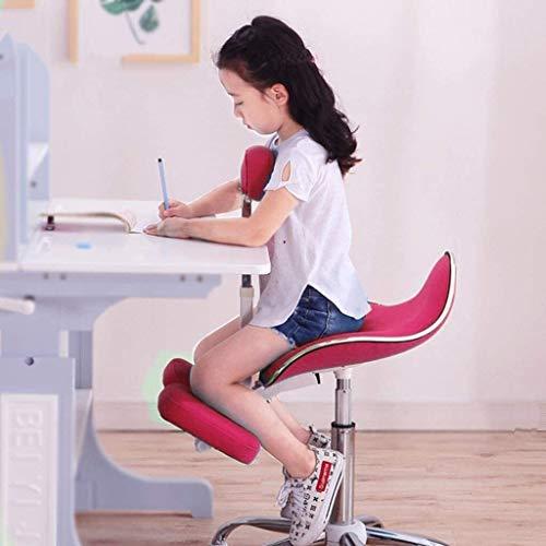 QSHG Kniend Stühle Ergonomischer Bürostuhl Computer Stuhl, hohe elastischer Schwamm, Geeignet for Kinder (1.1-1.75m) Korrekte Sitzhaltung Kleine Hocker (Color : Blue, Size : Without Pedals)