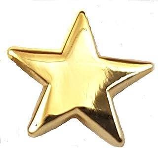 Mainly Metal - Spilla metallica smaltata a forma di stella dorata, placcata oro