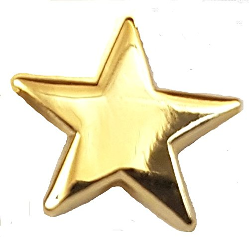 Metal Enamel Pin Badge Brooch Gold Star 18mm (Gold plated): Amazon.co.uk:  Kitchen & Home