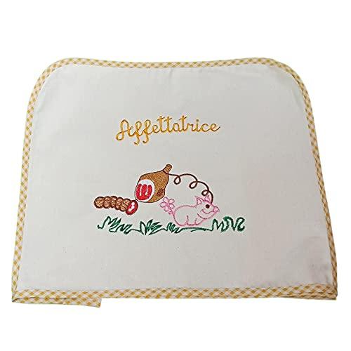 Trama Toscana Copriaffettatrice Misura Media cm 45x40x30 in 4 Colori. Tessuto Cotone 100% Ricamato