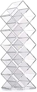 Clear Acrylic Fish Shape Lipstick Organizer Tower, Lip Gloss Storage Holder Stand for 16 Lip Sticks, Perfect for Makeup Cosmetic Vanity and Dresser Display (1 Pack)