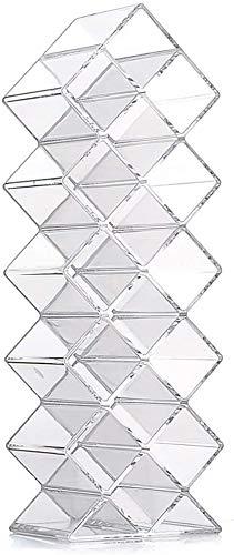 Fischform Lippenstift Organizer Tower, Lipgloss Lagerhalter Stehen für 16 Lippenstöcke, ideal für Make-up Kosmetische Waschtisch- und Kommode-Anzeige, klar Acryl
