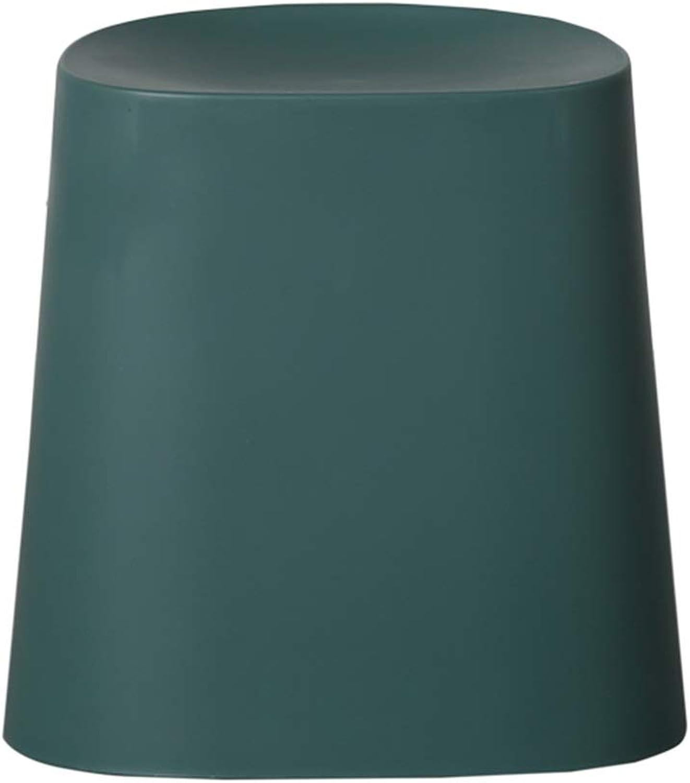 ZHAOYONGLI Footstools,Otools Breakfast Bar Kitchen Stool   Lightweight Plastic   Stackable   Scandinavian Contemporary Retro Styling (color   Dark Green, Size   45  35cm)