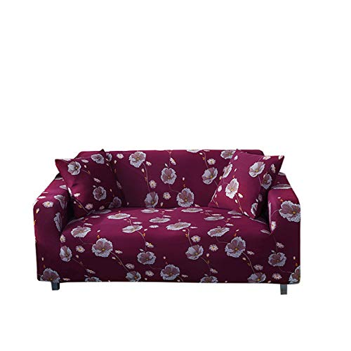 Yunchengyunxiangtong Stretch Couch All Inclusive Universal-Stoff Four Seasons Anti-Rutsch-Sofakissen Leder Sofa Handtuch Full Cover Elastic-Sofa-Abdeckung (Size : Double)