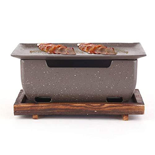 Aiglen Coreano Japonés Barbacoa Parrilla Portátil No Palo Horno De Carbono Aleación De Aluminio Estufa De Barbacoa Cocina Cocina Cocina (Size : 38.8 * 25 * 14cm)