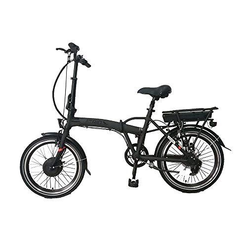 Bicicleta elétrica Berlim Aro 20 Dobrável Pedal assistido Componentes Shimano Bateria LG Corrente KMC Potência 250W Cubo Joytech Quadro Alumínio Preto Atrio – BI182