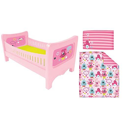 BABY Born 824399 Bett mit Kuschelbettzeug, bunt