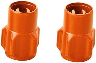DAYTONA(デイトナ) ムシ回し付きバルブキャップ 2個入り 樹脂製 オレンジ 92994