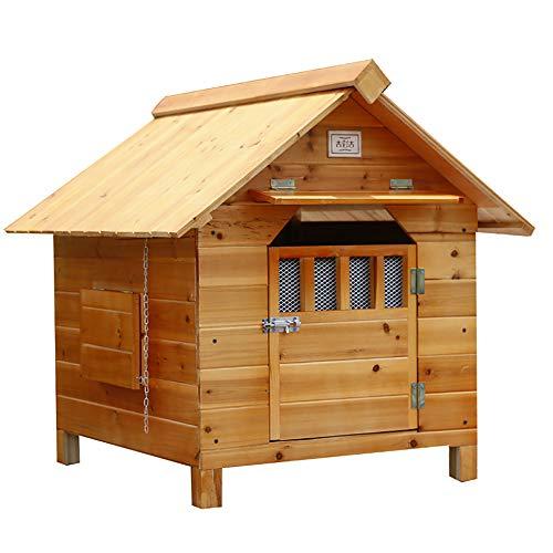 Tragbare Hundehütte Für Große Und Mittlere Hund, Holz Pet Kennel, Außen Wetter wetterfestes Hundehaus, Einfach Zu Montieren,Braun,XXL