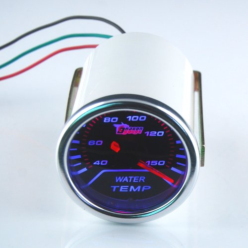 "THG LED Bright White Digital Nueva 2"" Super Agua Temperatura Medidor de Temperatura Universal Fit Autom¨®vil Car Auto Motor"