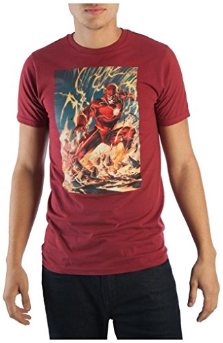 Flash Nova camiseta masculina 52 Variant Cover #4, Vermelho, S