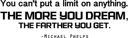 DS Inspirational Decals Michael Phelps Vinyl Wall Decal - USA Olympics Pick and Peel Sticker - Swimming Quote - 20
