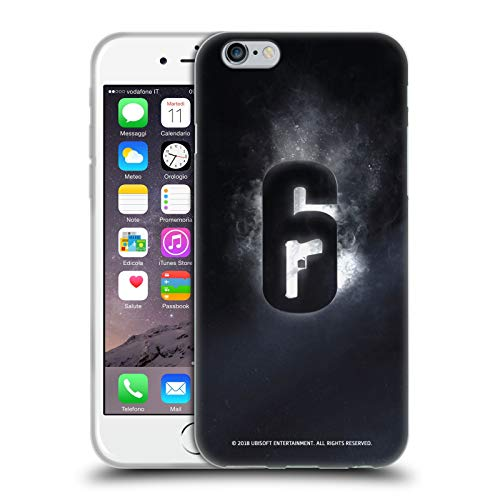 Head Case Designs Officially Licensed Tom Clancy's Rainbow Six Siege Glow Logos Soft Gel Case Compatible with Apple iPhone 6 / iPhone 6s