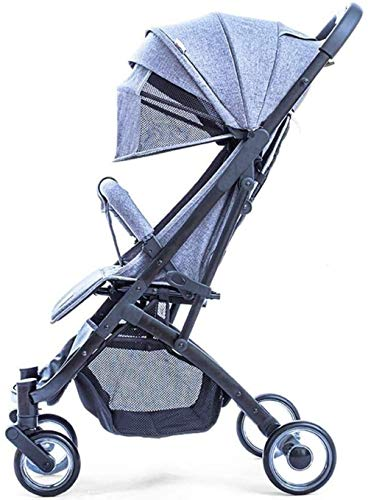 YONGYONGCHONG Chariot Bébé Poussette légère Système Voyage Portable Pram Poignée Pliable Car Design Avion Voyage Tricycle (Color : Light Blue)