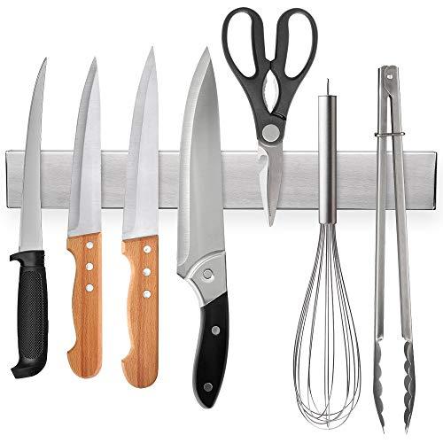 12 Inch Magnetic Knife Strip, Premium Stainless Steel Kitchen Knives Bar,Space-Saving Powerful Magnetic Knife Rack for Home Kitchen Utensil Holder, Art Supply Organizer & Tool Holder