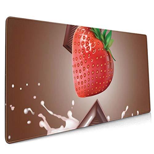 Erweitern Sie Mauspad Schokolade Erdbeere und Milch 40 x 90 cm Computer-Mausmatte Office Desktop-Tastatur Mousepad rutschfeste Gummibasis