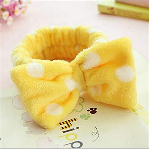 8 PcsBig Rabbit Ear Coral Fleece Head Band Soft Elastic Hair Ribbon SPA Bath Shower Make Up Wash Face Headband Hair Band Headwear 3