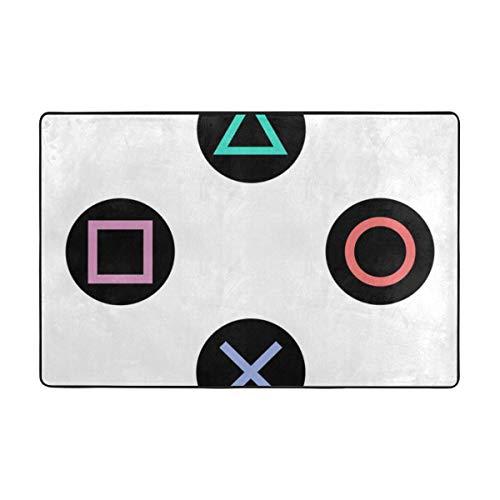 Juego con botones de control de playstation para dormitorio, sofá, suelo, 36 x 24 pulgadas