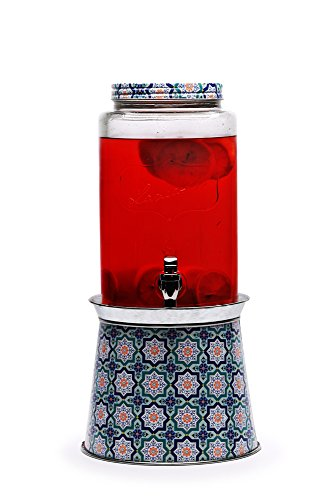 CircleWare 1.5-Gal Dispenser with Galvanized Decal Print Base, Lancaster Collection