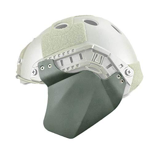 Tactical Helm Ohr-Schutz Airsoft Paintball Up-Rüstung Seitenabdeckung Gehörschutz Schienensatz Für Fast Helm (Zwei Stück),Grün