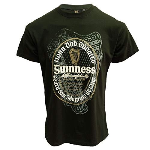 T-shirt con etichetta irlandese Guinness Verde M