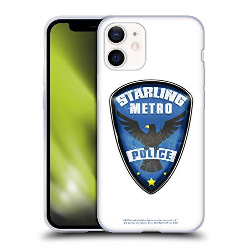 Head Case Designs Oficial Arrow TV Series Starling Police Badge Graphics Carcasa de Gel de Silicona Compatible con Apple iPhone 12 Mini