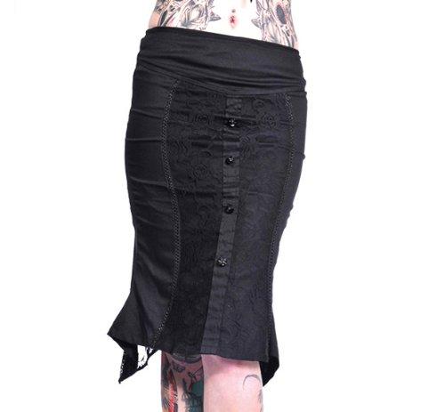 Jawbreaker Rock Black Roses Falda 7501Black
