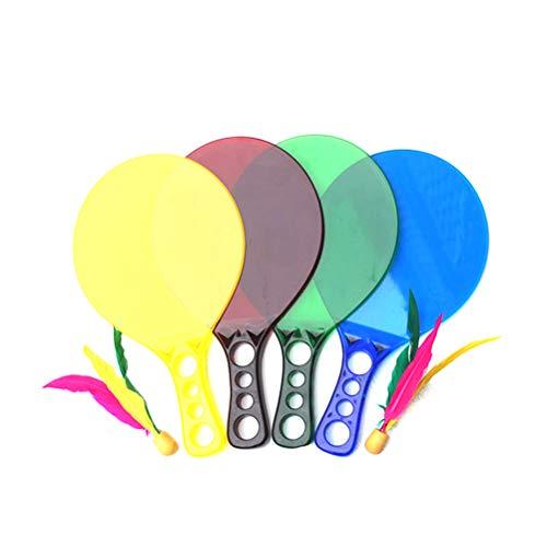 LIOOBO 1 Paar Badminton Bat Schläger Paddel Federball Set Badminton Spiel für Kinder und Erwachsene