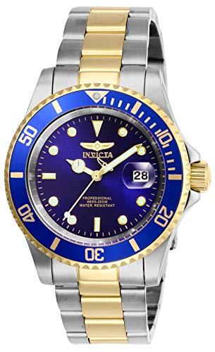 Invicta Men's Pro Diver 40mm Stainless Steel Quartz Watch, Two Tone/Blue (Model: 26972)
