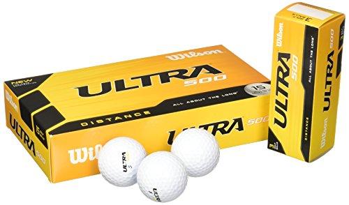 Wilson Ultra 500 Distanz-Golfball (15 Stück), weiß