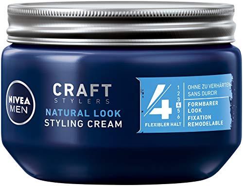 NIVEA MEN Styling Cream im 1er Pack (1 x 150ml), Haarcreme für formbaren Halt ohne zu verhärten, flexibles Haargel für einen Natural Look