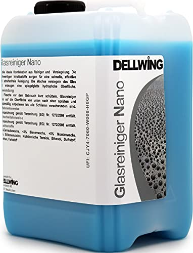 DELLWING - Limpiacristales NANO de 2,5 l – Limpiador y sellador para...