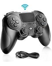 Zwini Wireless Controller voor PlayStation 4, Dual Vibration Shock 4 PS4 Controller USB oplaadbare Bluetooth-gamecontroller Zes assen Hypergevoelige joystick Gamepad voor