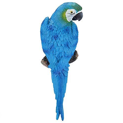 OKBY Pappagallo Giocattolo - Resina Realistico Ornamento di Uccello Figurina Modello Scultura da Giardino Decorazione Parete(Blue Left)