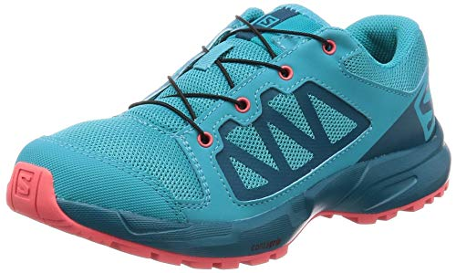 Salomon Kids' XA Elevate J Trail Running Shoes, Bluebird/Deep Lagoon/Dubarry, 4