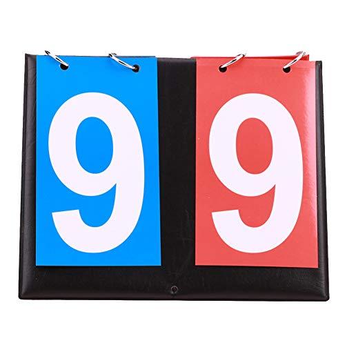 Lumpur Marcador Voleibol Fútbol Tenis Mesa Manual Baloncesto Bádminton Flip Contador portátil Multideportivo Competiciones Profesionales 2 dígitos(Azul + Rojo)