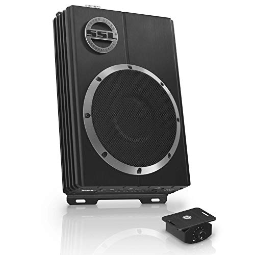 Sound Storm Laboratories LOPRO10 Amplified Car Subwoofer - 1200 Watts Max Power, Low Profile, 10 Inch Subwoofer, Remote Subwoofer Control, Great For Vehicles Needing Bass But Have Limited Space