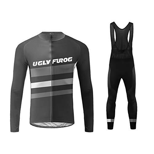 Uglyfrog Hombres Bodies Ciclismo Jersey Team Ciclismo Ropa Pantalones Kit Camisa de Secado rápido Ropa al Aire Libre de la Bicicleta CXMX13F
