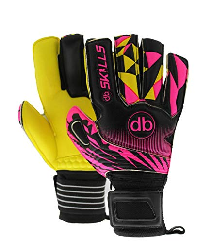 Keepershandschoenen fingersave db SKILLS Yellow Pink maat 8