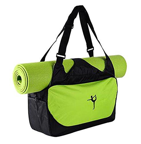 BLANCHO BEDDING Multifonction Yoga Mat Sac fourre-Tout: Léger, Durable, Respirante Pouch [Vert] #01