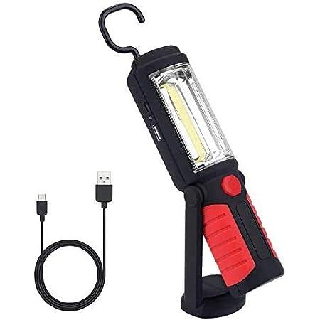 Led Arbeitsleuchte Taschenlampe Qeenlo Superhelle Cob Led Camping Lantern Arbeitsleuchten Mit Ständer Anpassung Haken Zum Aufhängen Und Magnet Basis Für Zuhause Garage Diy Baumarkt