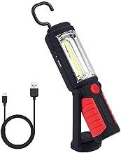 Qeenlo Led-werklamp, superheldere COB-led, camping, lantaarn, werkverlichting met standaard, aanpasbare haak om op te hang...