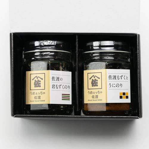 うめっちゃ佐渡 日本海の味瓶詰め 岩もずくのり・うにのり 各1本入 マルハフーヅ株式会社