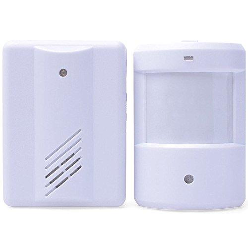 MINGT Split draadloze sensor deurbel infrarood lichaam detector home sensor welkom, wit, A