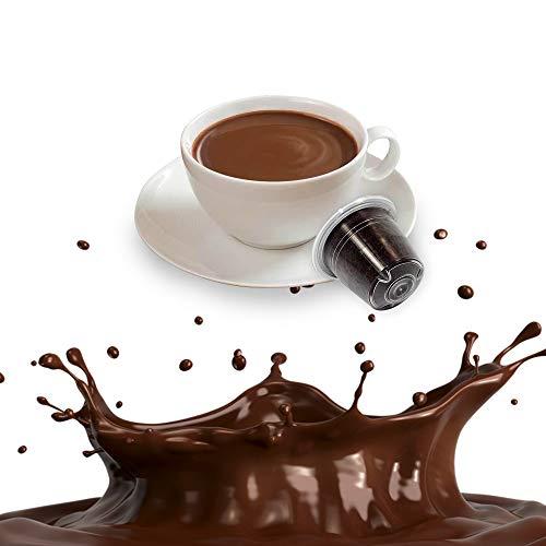 50 Capsule Cioccolata Compatibili Nespresso - Cialde Solubili al Cioccolato
