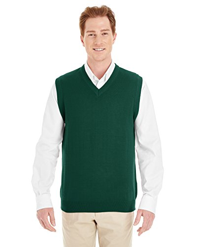 Harriton Mens Pilbloc V-Neck Sweater Vest (M415) -HUNTER -XL