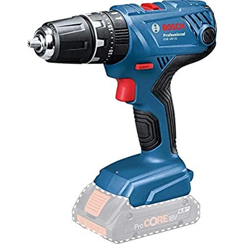 Bosch Professional 06019H1176 18V System GSB 18V-21 Cordless Combi Drill (max. Torque of 55Nm, excluding Rechargeable Batteries and Charger, in Cardboard Box), 18 V