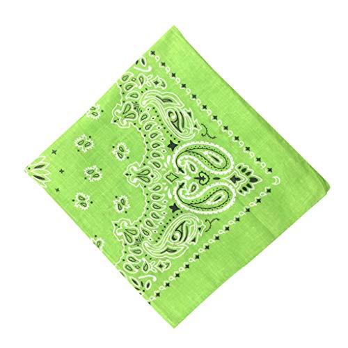 MOTOCO Bandana Kopftuch Halstuch Paisley Muster Einstecktücher Handgelenk Multifunktionstuch für Damen und Herren (55X55CM.I)